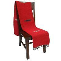 Red Mexican Yoga Blanket Thunderbird Thick Native Tapestry Serape Falsa Throw XL