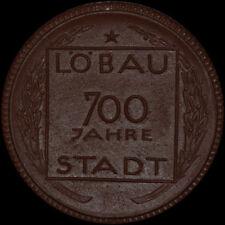 LÖBAU: Porzellan-Medaille 1921, Meissen. 700 JAHRE STADT LÖBAU.