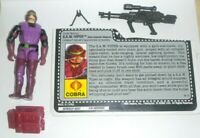 1990 GI Joe Cobra Heavy Machine Gunner Saw Viper v1 Action Figure w/ File Card