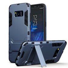 Samsung Galaxy S8 Edge Robuste Militaire Grade Armour Double couche étui Housse Bleu