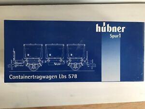HÜBNER 20501 Gauge 1 Freight Car Container Load Car Lbs 578 New For Märklin