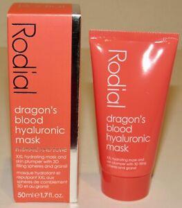 Rodial Dragon's Blood Hyaluronic Mask Hydrate And Tone 0.5 Oz 15mL Full Size NIB