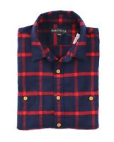 J.Crew Mercantile Mens M Slim Fit - Imperial Blue/Red Plaid Flannel Shirt