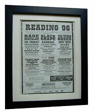 READING FESTIVAL+ORIGINAL 1996+ROCK+POSTER+AD+FRAMED+EXPRESS GLOBAL SHIP+TICKETS