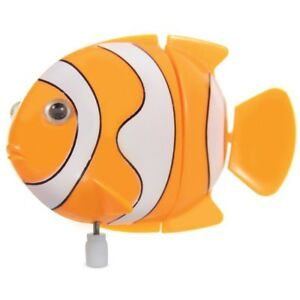 CLOCKWORK CLOWN FISH - 19479 WIND UP WATER BATH SWIMMING KIDS FUN TOY NEMO FISHY