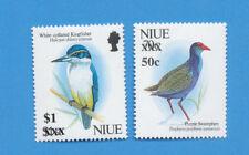 NIUE - scott 676 & 677 - VFMNH - Emergency Surcharge set - Birds  - 1996
