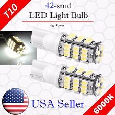 2x 6000K Xenon White LED T10 921 912 AOT 42SMD Backup Reverse Light Bulb