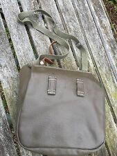 VINTAGE SWISS ARMY BREAD SHOULDER BAG RUBBERISED  LEATHER 1985 FISHING