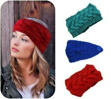 Braid/Bow Knitted Wool Headband