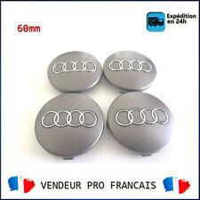 4pcs Centre de Roue Cache Moyeu 60mm Gris Audi A1 A2 A3 A4 A5 A6 A7 A8 TT