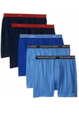 Polo Ralph Lauren 5 PACK KNIT BOXERS Blue Classic Reinvented Underwear NWT