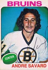 Andre Savard 1975 OPC Autograph #155 Bruins