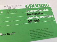 Bedienungsanleitung BDA / Manual Grundig LS SM 3000