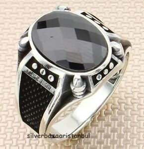 New Handmade Paw Red Ruby Stone 925 Sterling Silver Turkish Mens Ring All Size