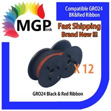 12x GRO24 Black & Red Compatible Ribbon for Samsung ER240/SANYOECR175TEC/MA85