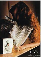 Publicité Advertising 1984 Diva Parfum Ungaro