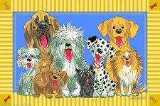 "3x5  Area Rug  SUZY'S ZOO  The Dogs Of Duckport Cartoon Kids Fun Time 3'3""x4'10"""
