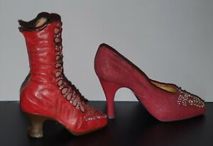 Step in Time Collection by Regency Fine Arts Shoe Ornament & Free Boot Ornament