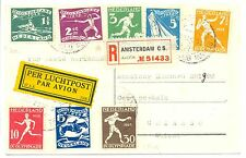 NEDERLAND 1928 OLYMPICS SPEC CARD TO SWITZERLAND ALMOST VF --( USED RARE !! )