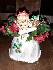 Napcoware Angel with Bells Planter X 6965 Vintage 1950s Christmas Home Decor 6""