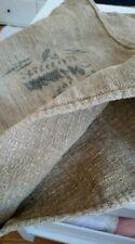 Antique vintage GRAIN SACK feedsack Rustic hemp printed-black writing GRAINSACK