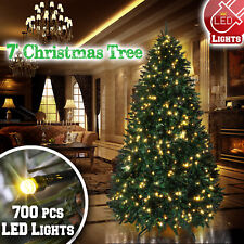 7ft Deluxe Artificial Christmas Tree w 2154 Branch Tips 700 LED Lights Tall Fir