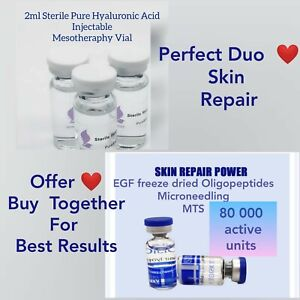 EGF polypeptide growth skin factor INJECTABLE HyaluGun, DermaPen, Meso + Pure HA