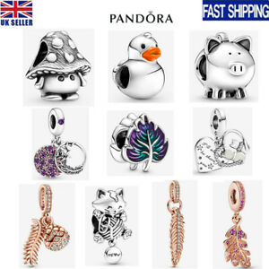 2021 New Genuine ALE S925 Pandora Leaf Duck Kitten Charm With Gift Box