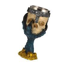 3D Gothique Crâne Squelette Guerrier Tasse à Vin Bière Mug en Acier Inox