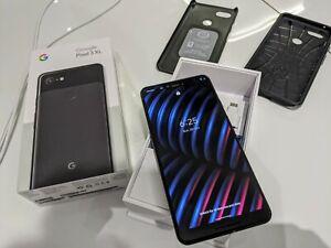 Google Pixel 3 XL - 64GB - Just Black (Unlocked) Boxed + 2 x Spigen Cases