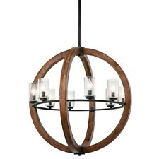 Kichler Grand Bank Chandelier 8Lt, Auburn Stained, Clear Seeded - 43190AUB