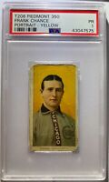 FRANK CHANCE (PORTRAIT) T206 PIEDMONT PSA GRADED CHICAGO CUBS HOF