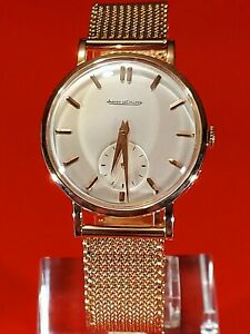 JAEGER-LECOULTRE.  35MM. 18K SOLID ROSE GOLD. FRESH SERVICE.  EXTRACT OF ARCHIVE