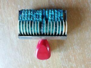 (162) vecchio timbro gomma numeratore