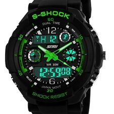 SKMEI S-SHOCK Green DiaL Digital Analog Smart Cool AL Mens Sports Wrist Watches