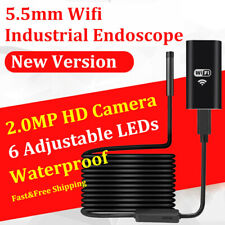 5.5MM 6LED WiFi Borescope Endoscope Snake Inspection Cam for iPhone Android iOS