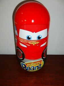 Disney Cars Mighty Beanz Lightning McQueen Tin Case Snot Rod Sheriff Sarge Luigi