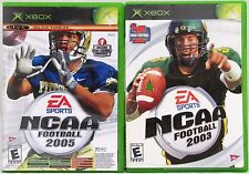 NCAA Football 2003 2005 and Top Spin Tennis Microsoft Xbox Video Game Lot of 2