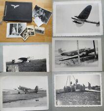 Altes Fotoalbum Luftwaffen Einheit / Flugzeuge / 66 Fotos 2. WK