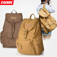 CADeN F5 Canvas Camera Bag Backpack Casual Travel Bag for Sony Canon Nikon DSLR