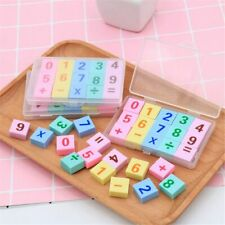 15pcs/box Numbers Erasers Mini Cute Rubbers School Correction Supplies New 2019