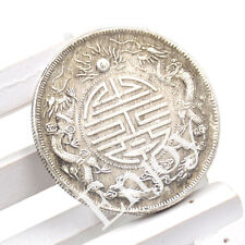 Chinese Traditional Feng Shui Double Dragon Lucky Coin Auspicious Wealth Prayer