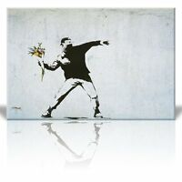 Wall26 Canvas Print Wall Art Decor- Rage the Flower Thrower - 16 x 24 inches