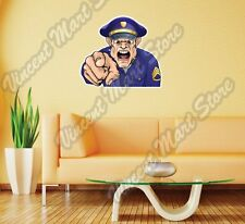 """Angry Looking Police Officer Funny Gift Wall Sticker Room Interior Decor 25""""X20"""""""
