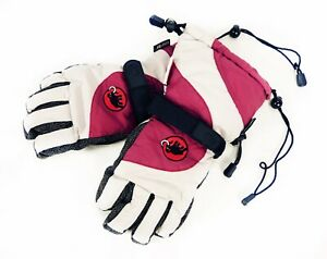 Men's Mammut GORE-TEX Gloves Mittens Winter Ski Gray / Red Size - 7
