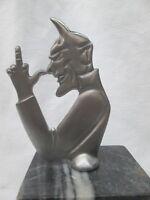satan middle finger devil lucifer   ratrod hotrod car hood ornament