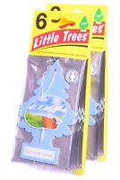 Little Trees Cardboard Hanging Car, Home & Office Air Freshener, Summer Linen-12