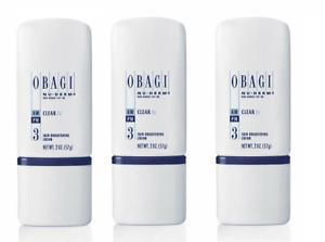 Obagi Nu Derm Clear FX Skin Brightening Cream 2 oz3 Pack