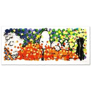 """Everhart """"Pillow Talk"""" Signed Limited Edition Peanuts Lithograph COA"""
