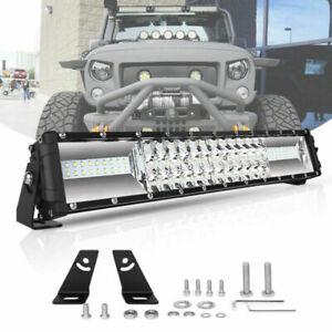 16Inch Cree Tir Row Led Light Bar Slim Spot Flood Combo Driving Work Light 6000K